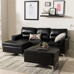 Kinsley Small 2 Piece Sectional in Black