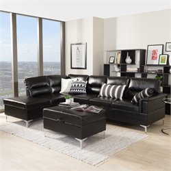 Kinsley Large 2 Piece Sectional in Black