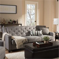 Arcadia Upholstered Sofa in Gray