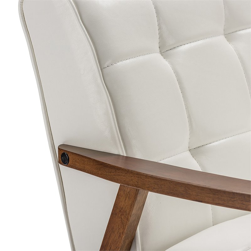 Baxton Studio Masterpieces Accent Chair in White