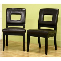 Baxton Studio Faustino Dining Chair in Dark Brown (Set of 2)