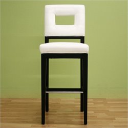 Baxton Studio Faustino Barstool in Cream