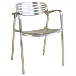 Ethan Accent Chair in Silver (Set of 2)