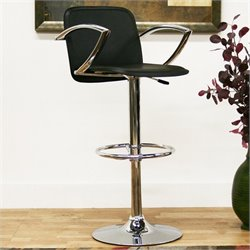 Baxton Studio Carmen Barstool in Black (Set of 2)