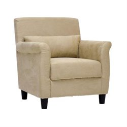 Baxton Studio Marquis Fabric Club Arm Chair in Tan