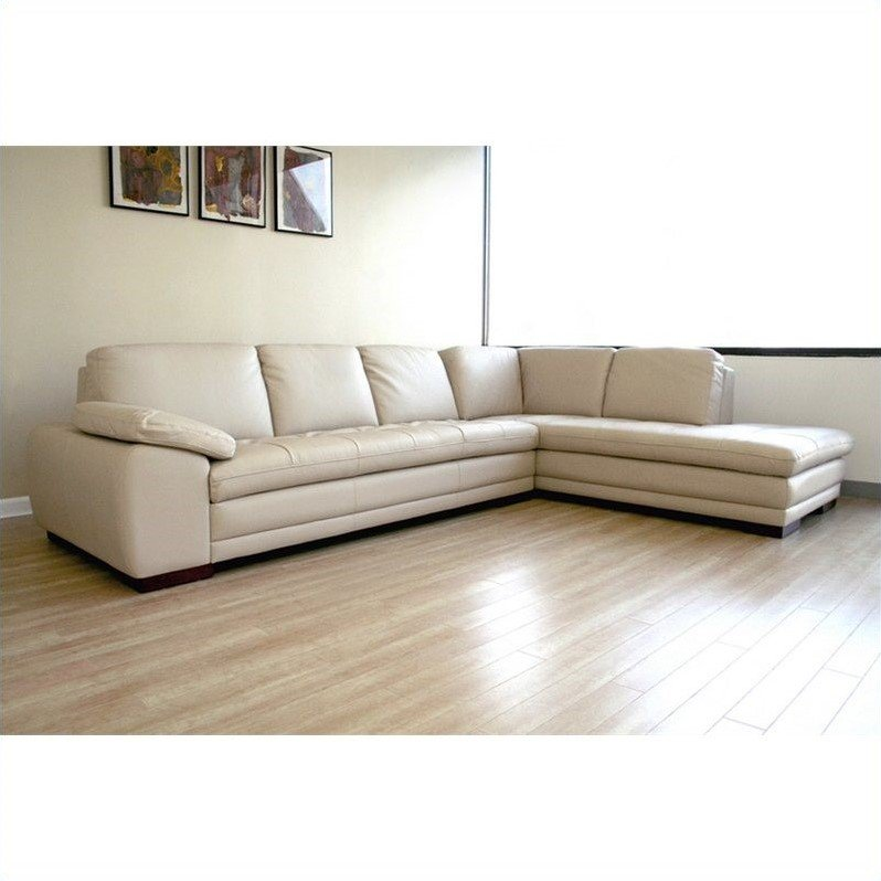 Diana Leather Sectional Sofa In Beige 625 M9818 Sofa Lying