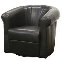 Baxton Studio Julian Club Chair in Black Brown (Set of 2)