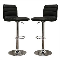 Baxton Studio Lyris Bar Stool in Black (Set of 2)
