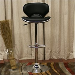 Baxton Studio Orion Bar Stool in Black (Set of 2)