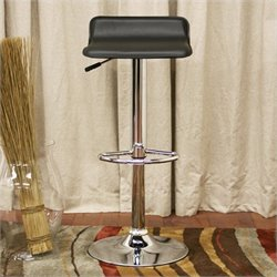 Baxton Studio Vita Bar Stool in Black (Set of 2)