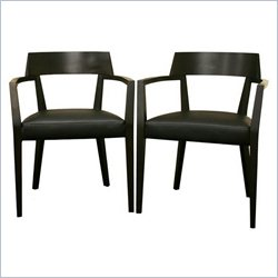 Baxton Studio Laine Dining Chair in Wenge (Set of 2)