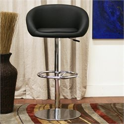 Baxton Studio Wynn Bar Stool in Black (Set of 2)