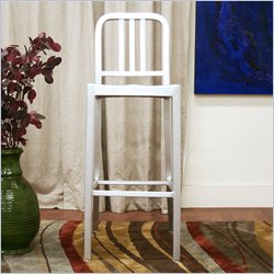 Baxton Studio Cafe Bar Stool in Silver