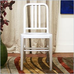 Baxton Studio Cafe Chair in Silver (Set of 2)