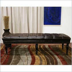 Baxton Studio Lexington Wheeled Bench in Dark Brown