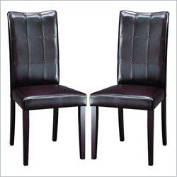 Baxton Studio Eden Dining Chair in Dark Brown (Set of 2)