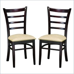 Baxton Studio Lanark Dining Chair in Dark Brown (Set of 2)