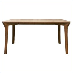 Baxton Studio Mier Dining Table in Dark Brown