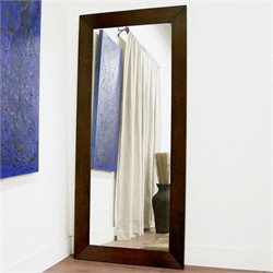Baxton Studio Doniea Rectangular Mirror in Light Cappuccino