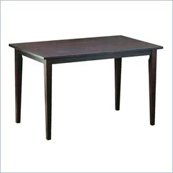 Baxton Studio Polly Dining Table in Light Cappuccino
