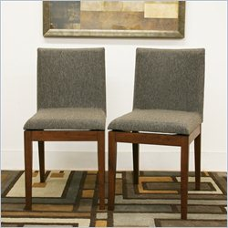 Baxton Studio Moira Dining Chair in Brown (Set of 2)