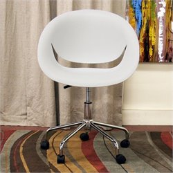 Justina Swivel Office Chair in White (Set of 2)