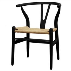 Wishbone Y Dining Chair in Black (Set of 2)