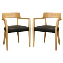 Baxton Studio Laine Dining Chair in Natural (Set of 2)