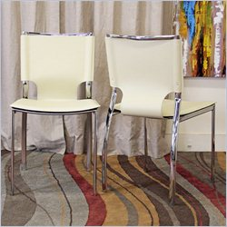 Baxton Studio Montclare Dining Chair in Ivory (Set of 2)