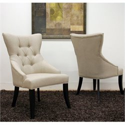 Baxton Studio Daphne Dining Chair in Beige (Set of 2)