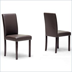 Baxton Studio Susan Dining Chair in Brown (Set of 2)