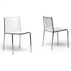 Baxton Studio Gridley Dining Chair in White (Set of 2)