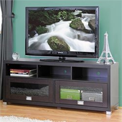 Baxton Studio Swindon TV Stand in Dark Brown