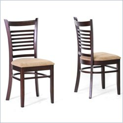Baxton Studio Cathy Dining Chair in Taupe (Set of 2)