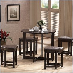 Baxton Studio Rochester Bar Table Set in Dark Brown
