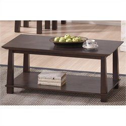 Baxton Studio Havana Coffee Table in Dark Brown