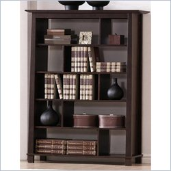 Baxton Studio Havana Tall Bookcase in Dark Brown