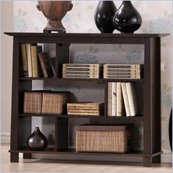 Baxton Studio Havana Short Bookcase in Dark Brown