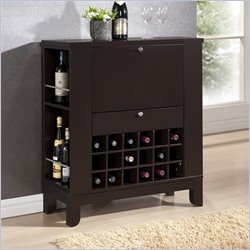 Baxton Studio Modesto Dry Home Bar and Wine Cabinet in Dark Brown