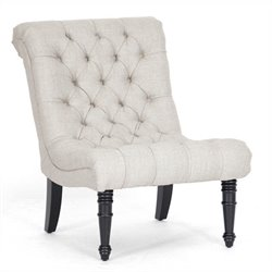 Baxton Studio Caelie Tufted Lounge Chair in Beige