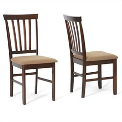 Baxton Studio Dining Chair in Cappuccino and Brown (Set of 2)