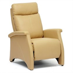 Baxton Studio Sequim Faux Leather Recliner Club Chair in Tan