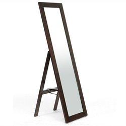 Baxton Studio Lund Mirror in Dark Brown