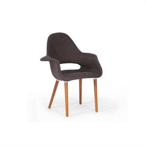 Forza Fabric Arm Chair in Brown (Set of 2)