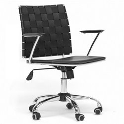 Baxton Studio Vittoria Office Chair in Black