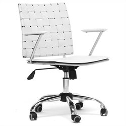 Baxton Studio Vittoria Office Chair in White