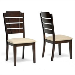 Baxton Studio Victoria Dining Chair in Beige (Set of 2)