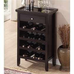 Atlanta Wine Cabinet in Dark Brown