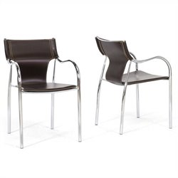 Harris Dining Chair in Brown (Set of 2)