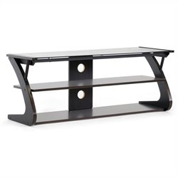 Baxton Studio Sculpten TV Stand in Dark Brown